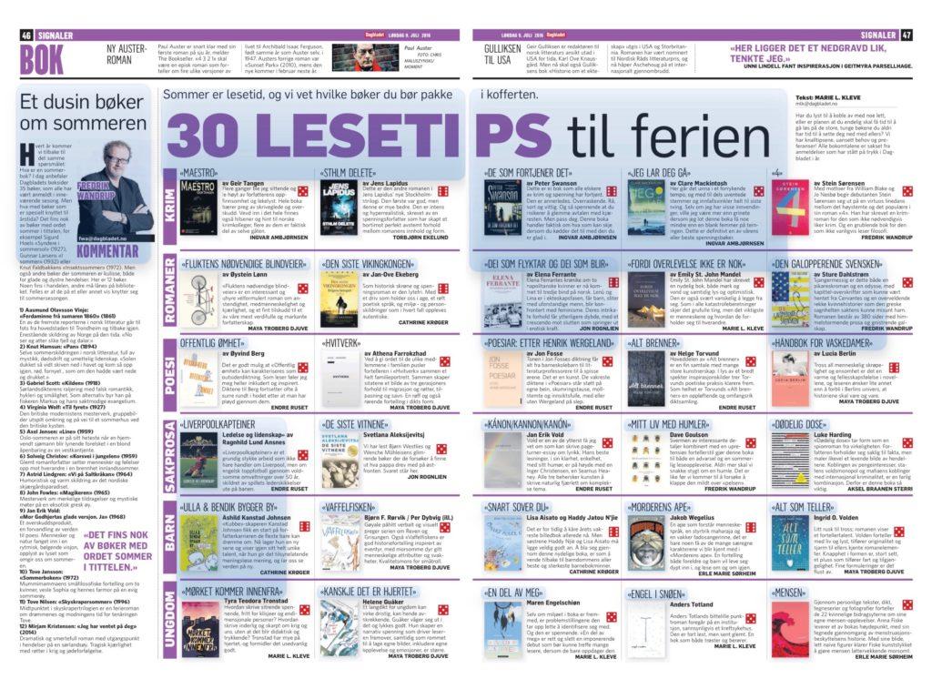 Dagbladet 9. juli 2016